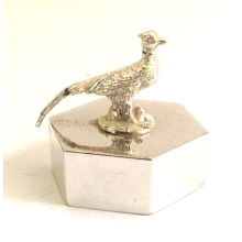 Hexagonal Pheasant Paperweight