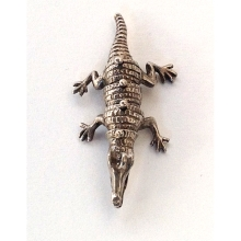 Articulated Silver Crocodile
