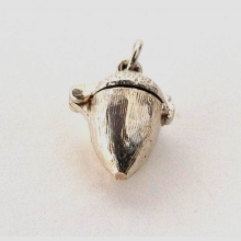 Silver Acorn with Squirrel