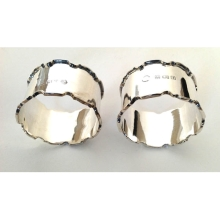 A Pair of Silver Decorative Napkin Rings