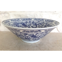 Blue and White Bowl with Fish deisgn