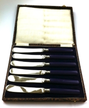 Purple Handled Butter Knives