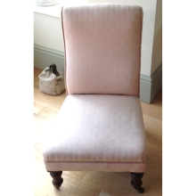 Oyster Pink Bedroom Chair